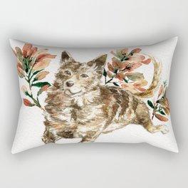 watercolor Taiwan Dog - Tabby Rectangular Pillow
