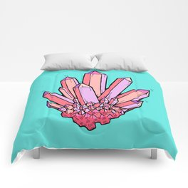 Crystal Cluster- Pink & Mint Comforters