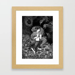 Magic fox Framed Art Print