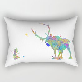 Olaf and Sven Rectangular Pillow