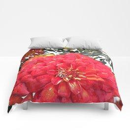 Garden Blooms - Red Comforters