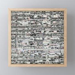 Removing Filters (P/D3 Glitch Collage Studies) Framed Mini Art Print