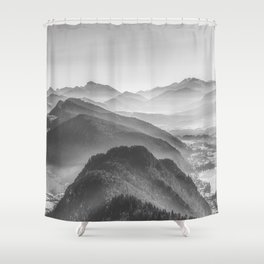 Balloon ride over the alps 3 Shower Curtain