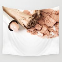 makeup Wall Tapestries featuring Makeup 01 by VanessaGF