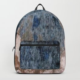 Inkwell Blue and Greige Abstract Expressionism Backpack