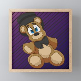 Freddy Plushie Framed Mini Art Print