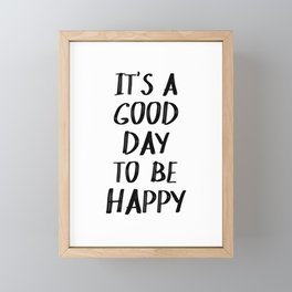 It's a Good Day to Be Happy II Framed Mini Art Print