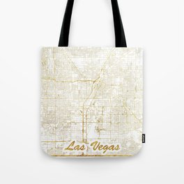 Las Vegas Map Gold Tote Bag