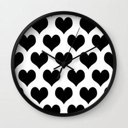 White Black Heart Minimalist Wall Clock