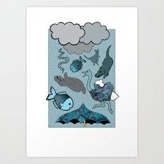 Raining Animals Art Print