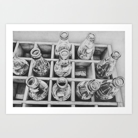 antique bottles Art Print