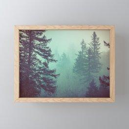 Forest Fog Fir Trees Framed Mini Art Print