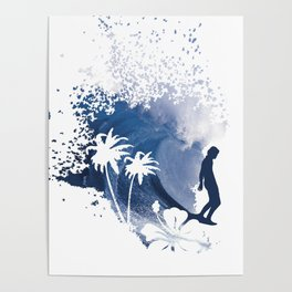 The Longboard Surfer Poster