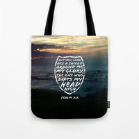 agents of shield Tote Bags featuring SHIELD by Pocket Fuel