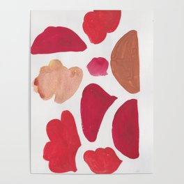 36   | 190408 Red Abstract Watercolour Poster