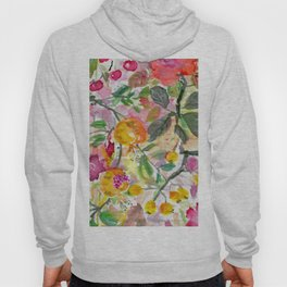 Pomegranate, Fruit and Flowers Hoody