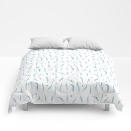 Plumes bleues Comforters