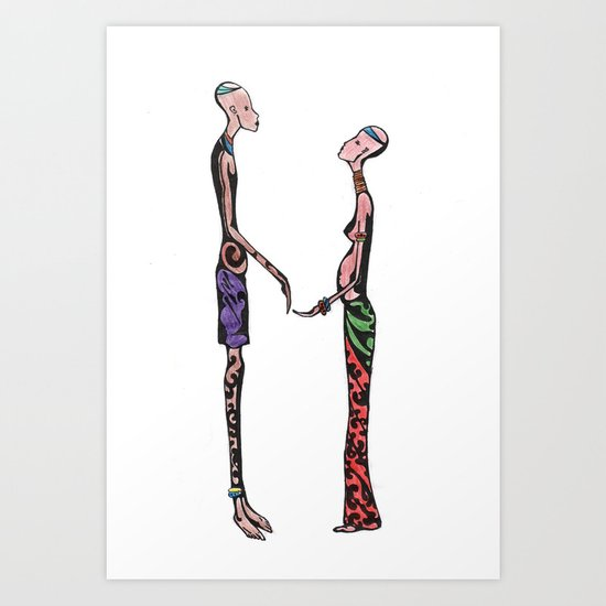 Kollie and Zoe ( african lover ) Art Print