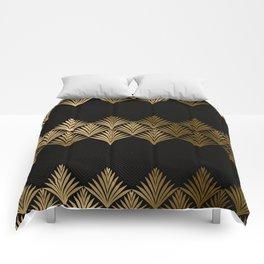 Reims, France: Luxueux Black and Gold Art Deco Comforters