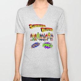 Superhero Butts Crack Smack Unisex V-Neck
