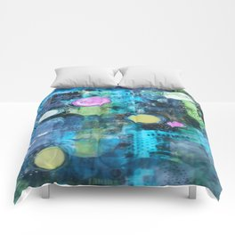 Abstract Floating Circles Comforters