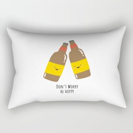 Don't Worry, Be Hoppy Rectangular Pillow