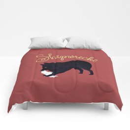 Shipwrecke (Red and Beige) Comforters
