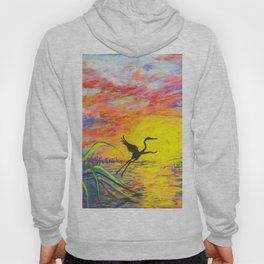 Sandhill Crane in the Sunset by annmariescreations Hoody