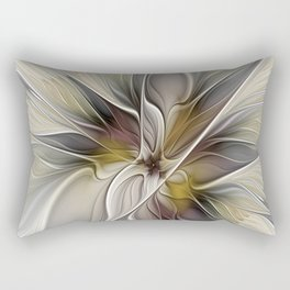 Floral Abstract, Fractal Art Rectangular Pillow