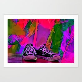 Dance Shoes Art Print