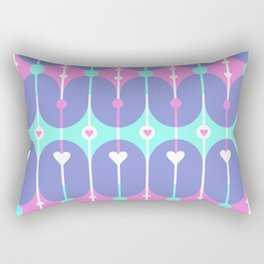 Unicorn Guts // Spring Hearts Rectangular Pillow