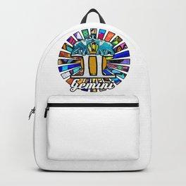 Graffiti Gemini Elephant Twins Backpack