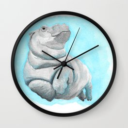 Baby Hippo Underwater Fantasia Ballet Wall Clock