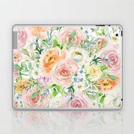 Pastel romantic garden Laptop & iPad Skin