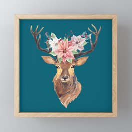 Winter Deer IV Framed Mini Art Print