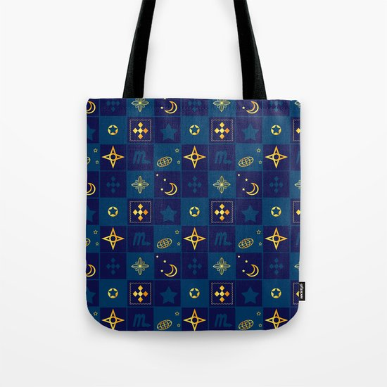 Night Waltz of the planets. Tote Bag
