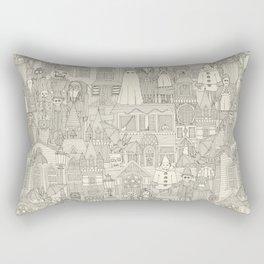 vintage halloween drab ivory Rectangular Pillow