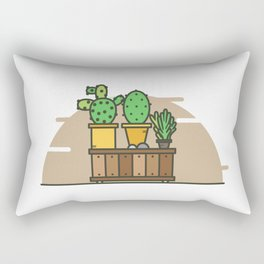 Cactus plant is a medical plant for beauty and decoration Rectangular Pillow