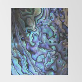 Deep Purple Abalone Shell Throw Blanket