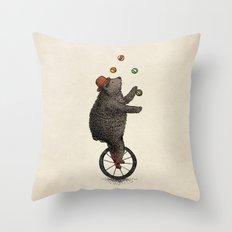 The Juggler (color option) Throw Pillow