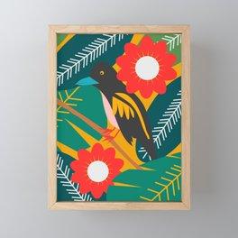 Broadbill and luxuriant vegetation Framed Mini Art Print