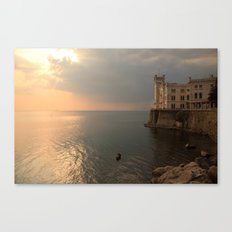 Miramare sunset Canvas Print
