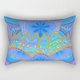 LABYRINTH. (blue) Rectangular Pillow