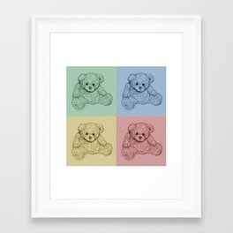 Worhol Style Teddy Bears Framed Art Print