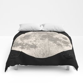 Full Moon Print (natural), by Christy Nyboer Comforters