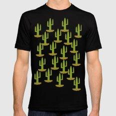 Cactus 1, Design, Vector Mens Fitted Tee MEDIUM Black