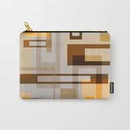 Mid Century Modern Blocks on Sand Carry-All Pouch