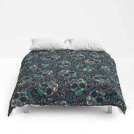 Floral Skeletons Comforters