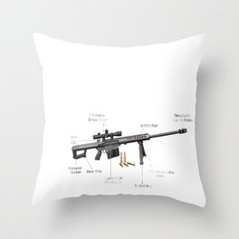 Sniper Throw Pillow