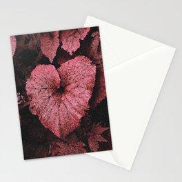 Deep Peach Heart Stationery Cards